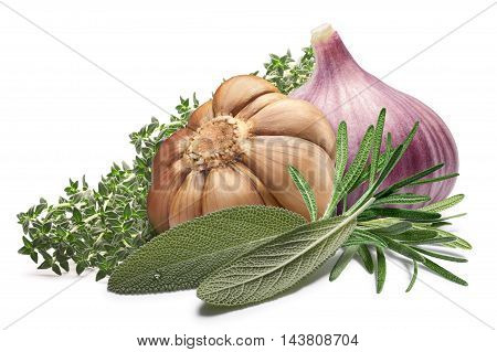 Garlic With Thyme,sage,rosemary - Provence Cuisine, Paths
