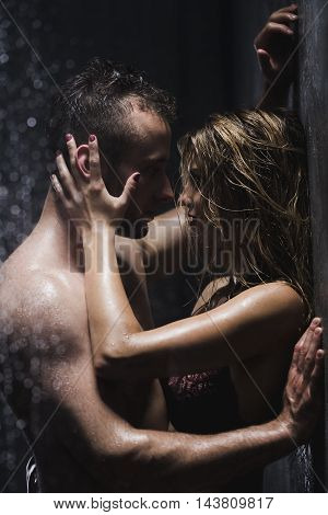 Hot Foreplay In The Shower
