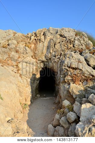 Rethymno city Greece Fortezza fortress landmark cave