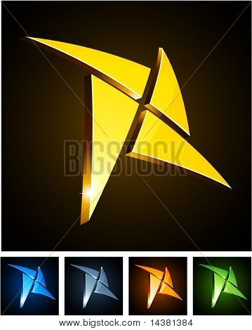 Star 3d vector icon such logos.