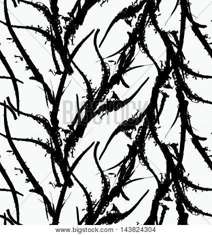 Kelp Seaweed Black Abstract Rough