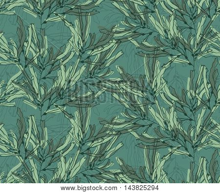 Kelp Seaweed Green Marker Brushed