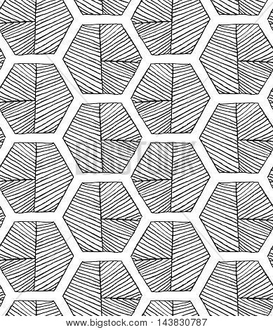 Hatched Hexagons With Seam