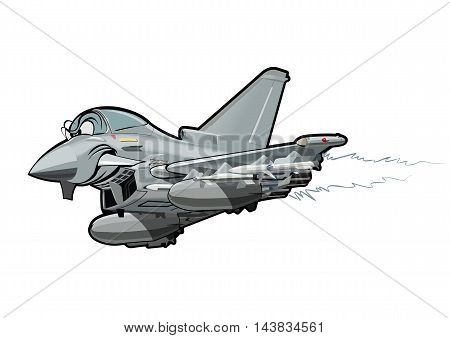 Vector Cartoon fighter. Available EPS-10 vector format separated by groups and layers for easy edit