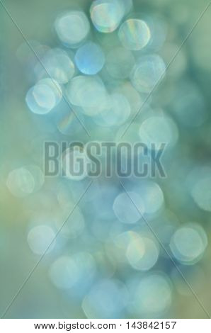 Abstract background of floating  orb circles in aqua-blue colors