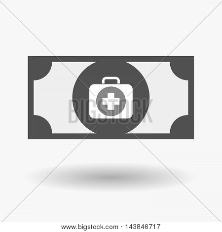 Isolated  Bank Note Icon With  A First Aid Kit Icon