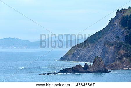 Atlantic Ocean Coastline, Biscay Bay, Spain.
