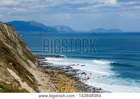 Ocean Scenic From Azkorri Beach.