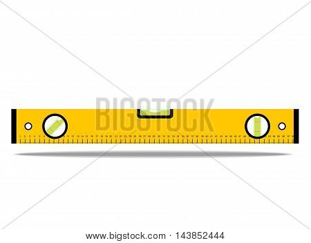 image with construction bubble level yellow, vector illustration