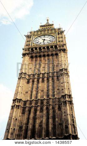 Big Ben Reaching To Sky In London