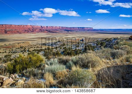 The Vermilion Cliffs Of Northern Arizona Taken From Highway 89 Between Marble Canyon And Jacob Lake USA