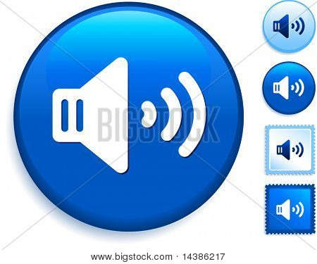 speaker Icon on Internet Button Original Vector Illustration