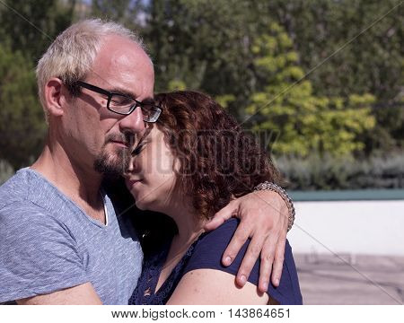Couple In Love Embracing.happy Couple