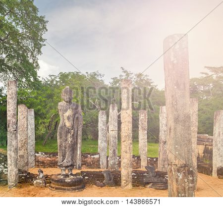 Ancient Ruins In Polonnaruwa City Temple Unesco