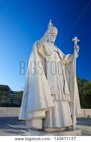 Statue Of Pope Pius Xii In Fatima, Portugal
