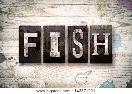 Fish Concept Metal Letterpress Type