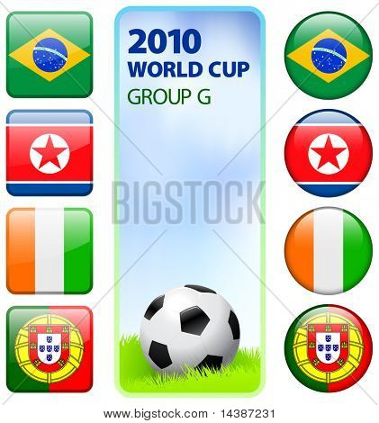 2010 Group G Original Vector Illustration