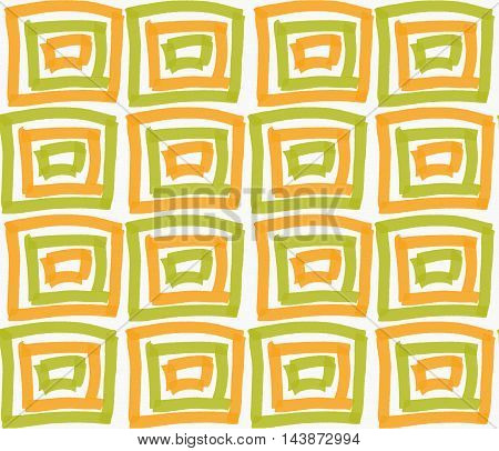 Painted Orange And Green Marker Squares