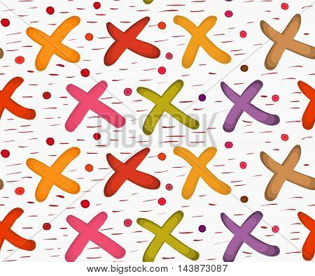 Painted Xes With Dots