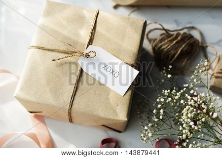 Message Label Tag Card Present Gift Concept