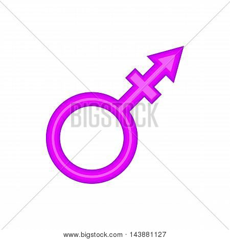Transgender sign icon in cartoon style isolated on white background. Tolerance symbol