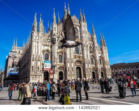Duomo Meaning Cathedral In Milan (hdr)