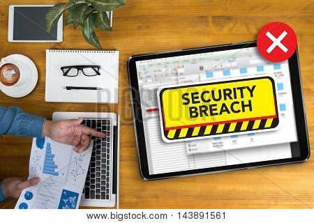 Computer Security Breach Cyber Attack Computer Crime Password Security