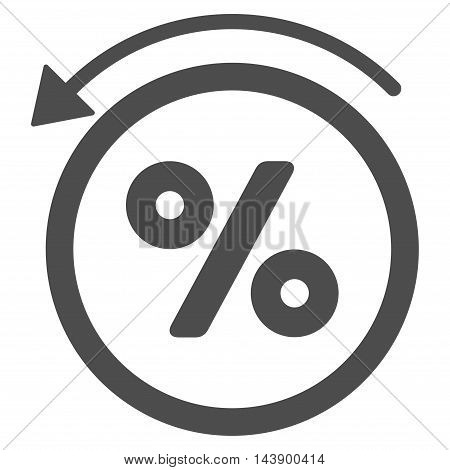 Rebate Percent icon. Vector style is flat iconic symbol with rounded angles, gray color, white background.