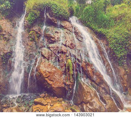 Waterfall Tien Sa Falls In Sapa Vietnam Mountain
