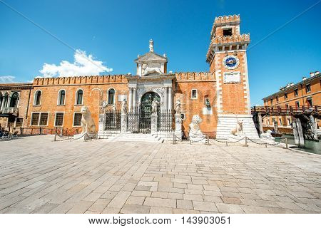 Venetian Arsenal in Castello region in Venice