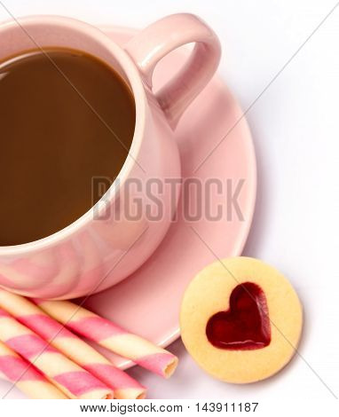 Coffee Love Cookies Indicates Biscuits Delicious And Cracker