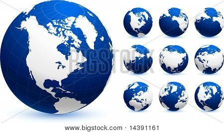 Globen ursprünglichen Vector Illustration Globen und Karten Ideal für Business-Konzepte