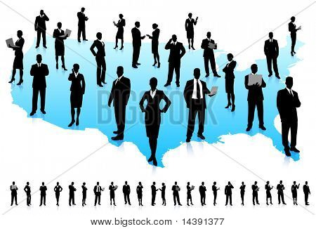 Business People Silhouette Unique high-detailed silhouettes featuring beautiful sexy models  File is easy to manage