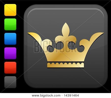 Golden royal grown Original vector icon. Six color options included.