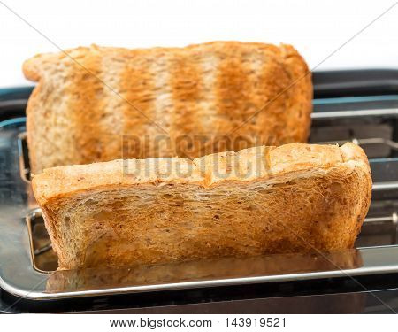Breakfast Toast Indicates Meal Time And Breaks