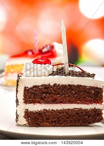Black Forest Gateau Represents Chocolate Cake And Appetizing