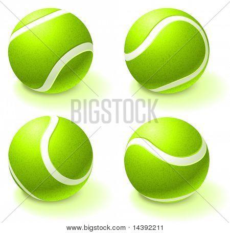 Tennis Ball Collection Original Vector Illustration