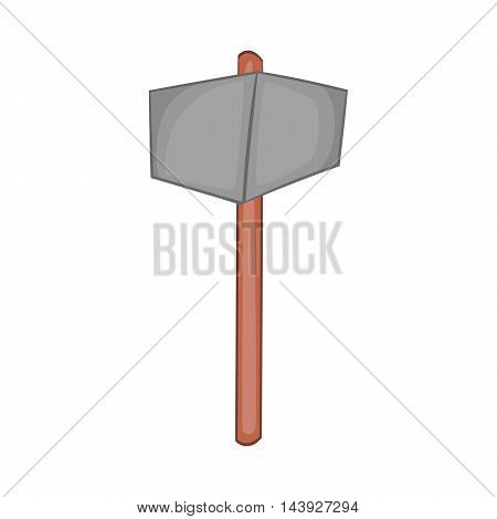 Sledgehammer icon in cartoon style isolated on white background. Tool symbol