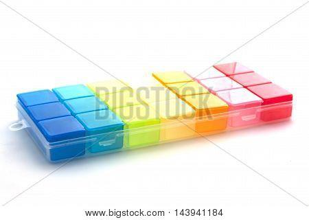 Pillbox On A White Background