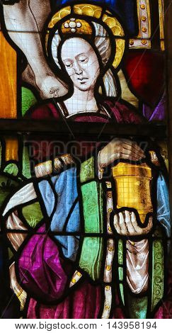 Stained Glass In Batalha Monastery - Mary Magdalene