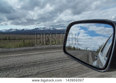 Reflections of the Denali Park Road in Alaska