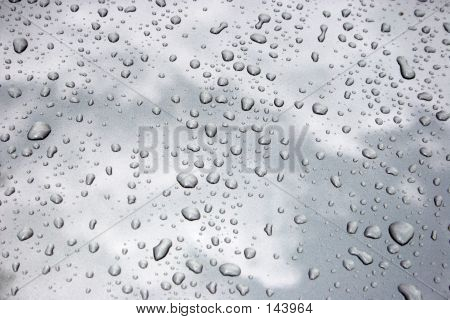Water Drops On Metal