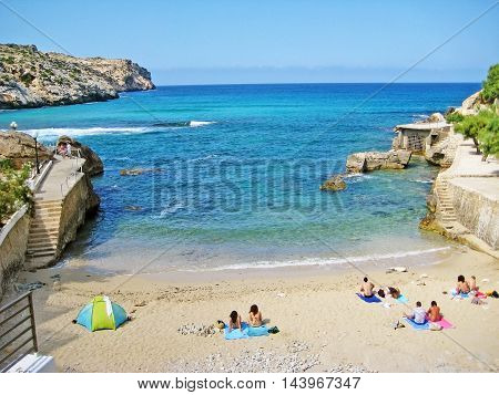 Bay Cala Clara Sign, Majorca
