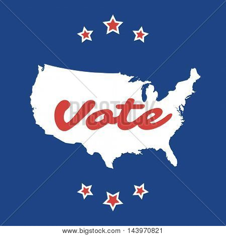 USA Voting Design Concept with Map