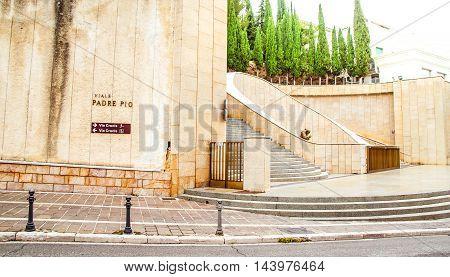 The Via Crucis near the Padre Pio sanctuary in San Giovanni Rotondo Apulia Italy