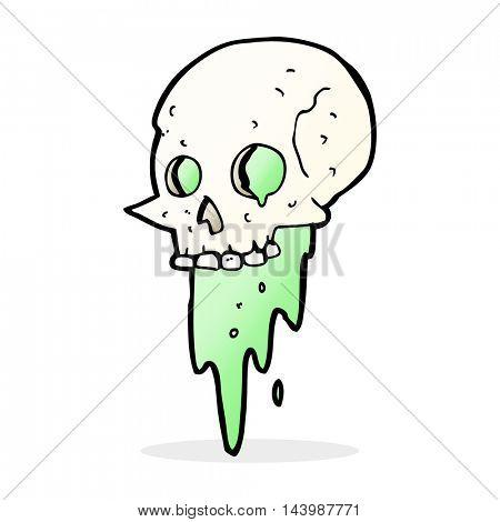 gross halloween skull cartoon