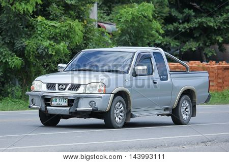 CHIANGMAI THAILAND -AUGUST 9 2016: Private Pickup car Nissan Frontier. On road no.1001 8 km from Chiangmai Business Area.
