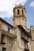 Belfry in Cretas in Teruel, Aragon, Spain. poster
