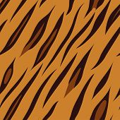 Seamless tiling animal print tiger vector illustration poster