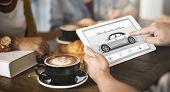 Car Rental Salesman Automobile Vehicles Concept  poster